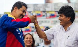 Venezuelan President Nicolás Maduro and Bolivian President Evo Morales