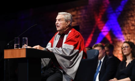 George Soros at the inauguration of the Central European University's Vienna campus on Friday.