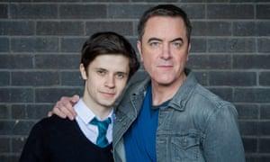 Radio 1 DJ Cel Spellman who plays Adam and Rachel's son with on-screen dad James Nesbitt.