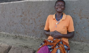 Joyce Abiro at her home in Ajobi village, Katine