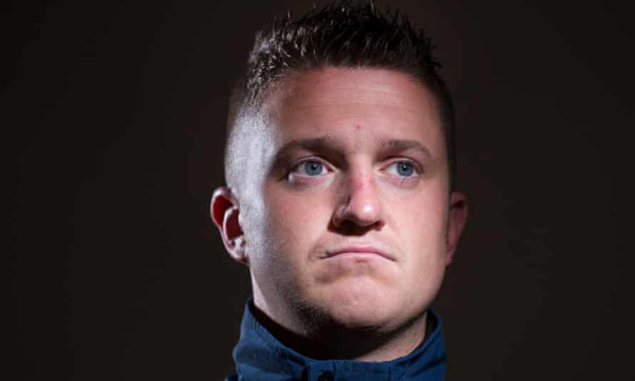 Tommy Robinson, the former leader of the English Defence League.