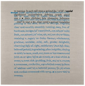 Bitter/Sweet, 2019 (verso of embroidery on linen ) by Cornelia Parker.