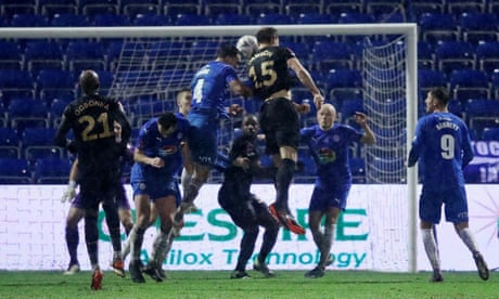 Craig Dawson's debut West Ham goal ends stubborn Stockport resistance
