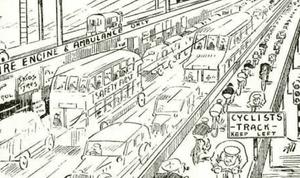 Cartoon from the CTC gazette. Photograph: CTC gazette.