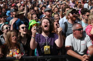The crowd watching the Vaccines on the Other Stage.