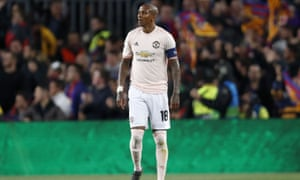 Ashley Young became the target of racist abuse on social media after taking part in Manchester United's Champions League defeat to Barcelona