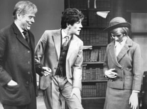 Their Very Own and Golden City - Sebastian Shaw, Ian McKellen and Ann Firbank star at the Royal Court Theatre in London. The play was written by Arnold Wesker, directed by John Dexter and William Gaskill, and designed by Christopher Morley.