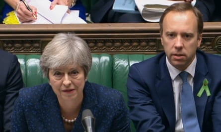 Prime Minister Theresa May and Health and Social Care Secretary Matt Hancock