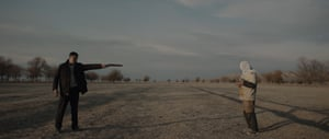 A shot from the Kazakh-noir crime film A Dark-Dark Man