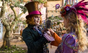 Alice Through the Looking Gloss … Johnny Depp and Mia Wasikowska in Alice Through the Looking Glass.