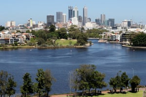The Swan River and Perth CBD.