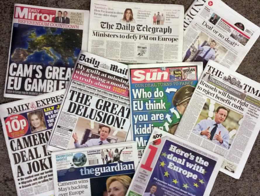 UK national newspapers
