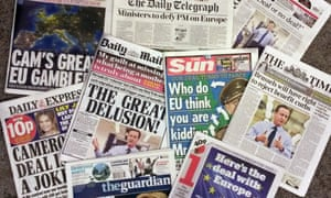 'Why has Cameron been put through the wringer? The answer is simply that the anti-European press is appalled that a Conservative government is about to recommend staying in Europe.'