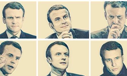 grid of six Emmanuel Macron photos
