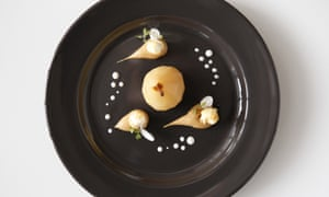 'As if someone had left a bag of Butterkist open': pear with salted caramel popcorn.