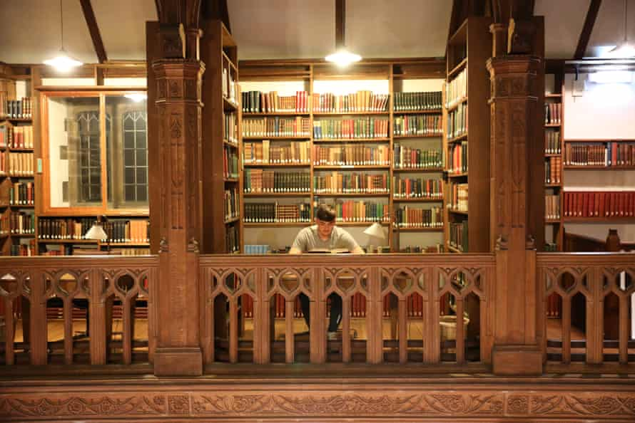 Studying in the History Room (picture credit - Gladstone's Library