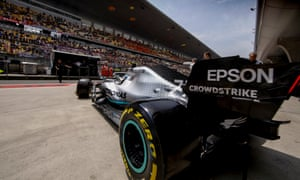 Valtteri Bottas and his Mercedes at the Chinese Grand Prix