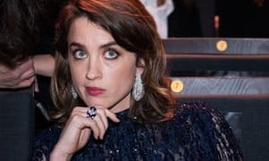 Adèle Haenel, a nominee for best actress, at the Césars on Friday.
