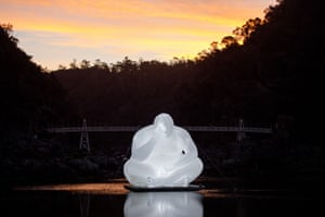 Man by Amanda Parer, at Cataract Gorge in Launceston.