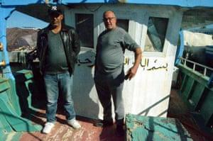 Sponge boat skippers Khessi Mohsen and Kamel Ramdani.