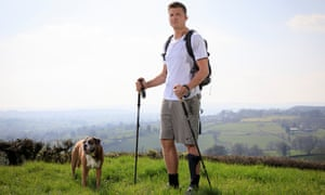 Ed Jackson poses for a portrait while out on a training walk near his house at Timsbury