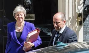 Theresa May leaves 10 Downing Street
