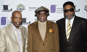 Leon Huff, left, and Kenneth Gamble, right, the co-founders of the Philly soul sound, with Billy Paul at a gala night in 2008.