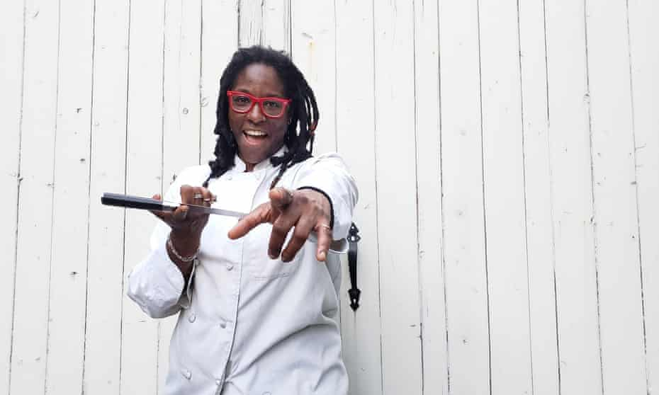 Nikeisah C Newton, owner of Meals 4 Heels, which delivers take-out food to strippers and sex workers in Portland, Oregon.