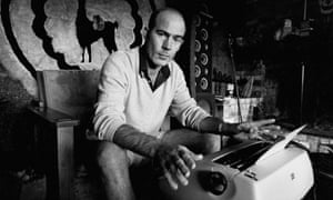 Hunter S Thompson, with his other weapon of choice.