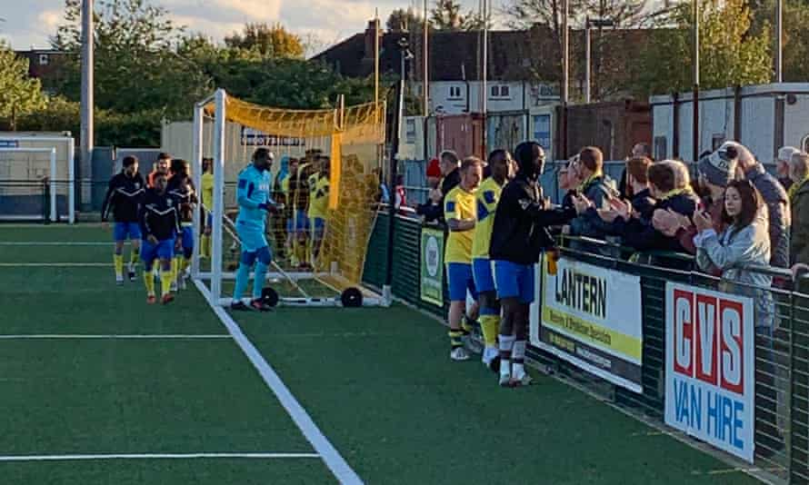 FA Cup match between between Haringey Borough and Yeovil Town