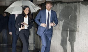 Meghan Markle and Prince Harry at an awards ceremony in central London this month