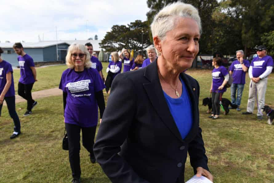 Kerryn Phelps after conceding defeat to Dave Sharma in Double Bay