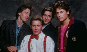 The Brat Pack in St Elmo's Fire (l to r): Andrew Mccarthy, Estevez, Judd Nelson and Rob Lowe.