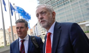 Keir Starmer and Jeremy Corbyn held talks in Brussels about Brexit in July 2017.