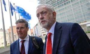 Keir Starmer, shadow Brexit secretary, with Labour leader Jeremy Corbyn in Brussels earlier this year to meet EU negotiators.