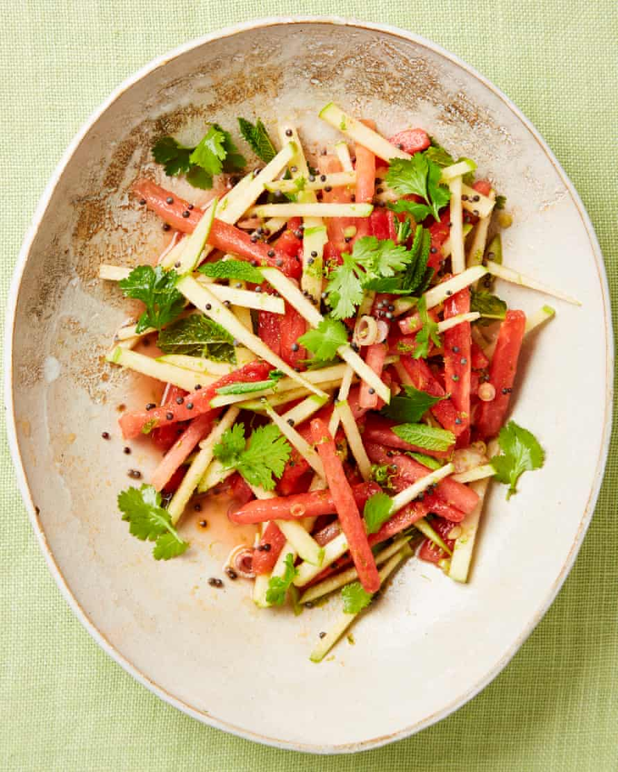 Yotam Ottolenghi's watermelon, green apple and lime salad