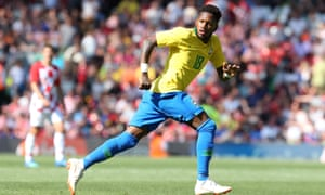 Fred of Brazil during the international friendly against Croatia on Sunday.