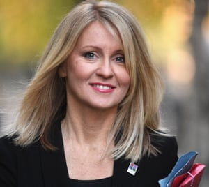 Work and Pensions Secretary Esther McVey.