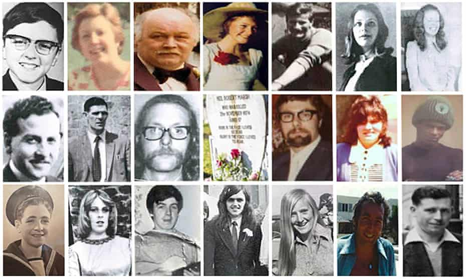 The Birmingham pub bombings victims.