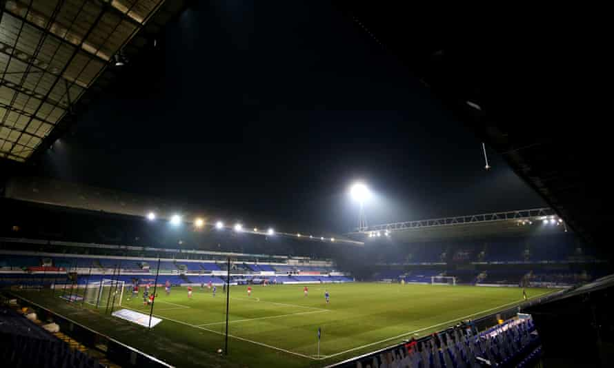 Charlton's Omar Bogle scores their second goal at a dark, dejected Portman Road on Saturday