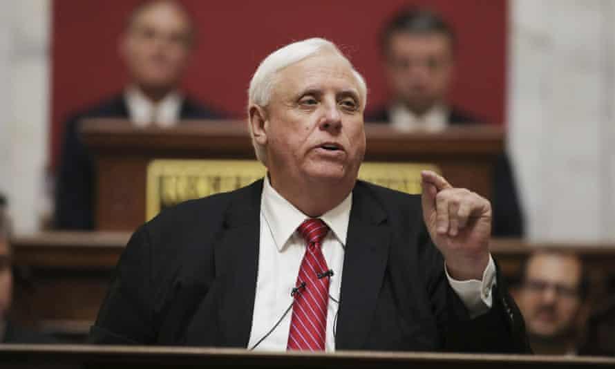 Jim Justice in Charleston, West Virginia, on 8 January 2020.