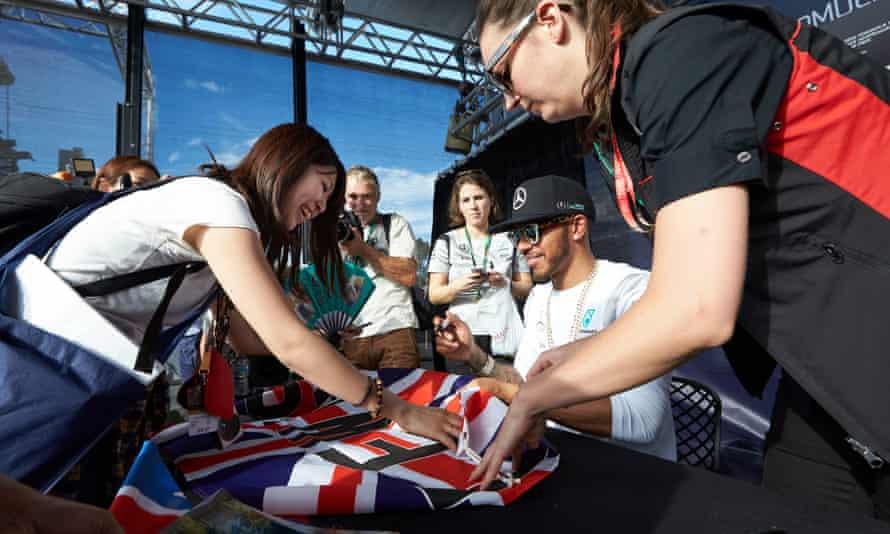 Lewis Hamilton in Melbourne