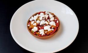 'A serious looker': datterini tomato tart.