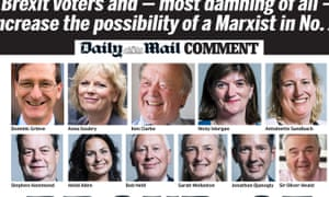 The Daily Mail front page on Wednesday 14 December.
