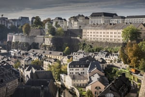 A view of the old part of Luxembourg City