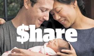 Mark Zuckerberg, Priscilla Chan and baby Max.