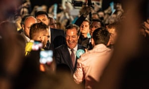 Nigel Farage and his BREXIT party European election candidates at their London rally.