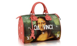 Meditation on the masters... A bag from Louis Vuitton's collaboration with Jeff Koons.