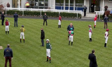 Jockeys keep their distance at Naas
