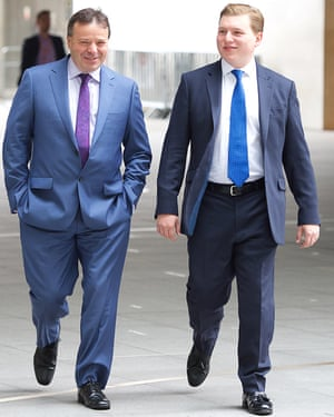 Arron Banks with George Cottrell, the Farage aide arrested and jailed in the US.